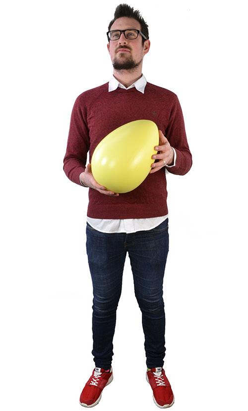Giant Yellow Egg - 30 x 20cm