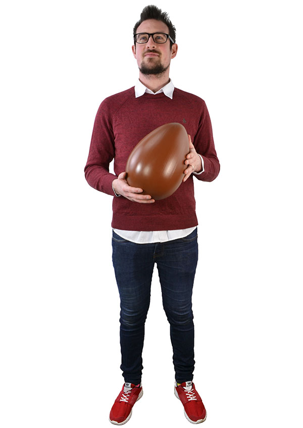 Giant Fake Chocolate Egg - 30 x 20cm