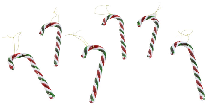 Plastic Candy Canes - Red / Green Pk