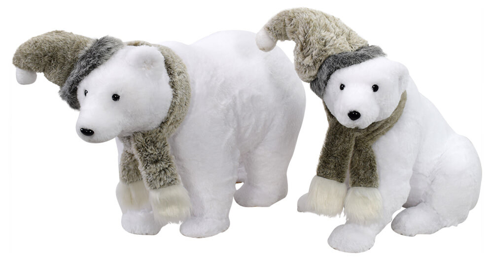 Polar Bears with Removeable Hat & Sc