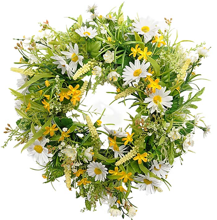 Flower Wreath - Yellow
