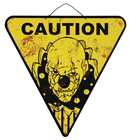 Caution Clown Warning Sign