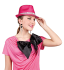 Pink Diamante Trilby Hat