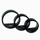 SET OF 3 BLACK ROUND DECORATIONS ELEME
