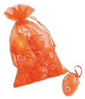 Decorative Easter Eggs, Orange, Pk.12