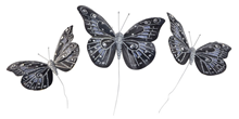 Decorative Grey Butterflies - Pk.3