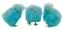 Fluffy Chicks - Blue 12cm, Pk.3
