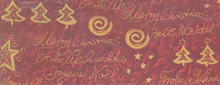 MERRY CHRISTMAS FABRIC 1.12M WIDE