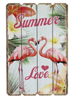 Tropical Flamingo Summer Love Picture