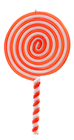 Red and White Candy Lollipop