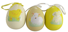 EASTER DESIGN DECORATIVE EGGS - PK3