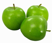 APPLE - GREEN 8CM, PK.3
