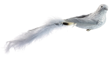 Feather Bird with Clip - Grey