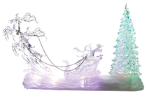 Colour-Changing Santa Sleigh and Tree