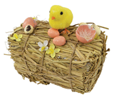 Hay Bale with Chick - Small