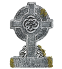 Mossy Celtic Tombstone Cross