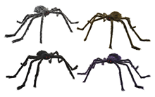 Hairy Poseable Spider - 4 Assorted -%2
