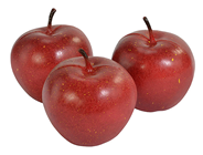 Fake Red Apples -7cm Pk.3