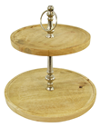 Two-Tier Wooden Etagere