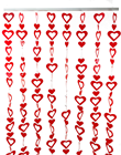 Heart Garland Set with Rail - Red