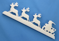 Fleece Reindeer Scene