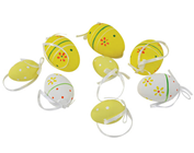 Decorative Easter eggs - Yellow, Pk.8