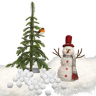 Snowman Display Set with Red Hat