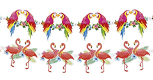 Flamingo & Parrot Hawaiian Bunting,