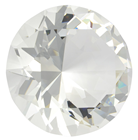 60mm Clear Diamond Cut K9 Crystal Glas