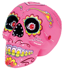 Day of the Dead Pink Sugar Skull