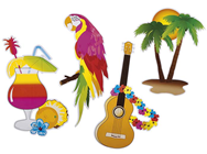 Hawaiian Cardboard Cut-Outs