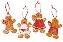 Gingerbread Boy and Girl Cookie Decorati