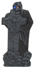 Grave Raider Tombstone With LED Eyes