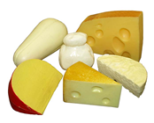 Plastic Pack of 6 Cheeses