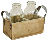Crate with 2 Bottles