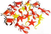 Mini Plastic Sea Creatures - Pk.24
