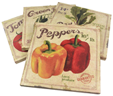 Vegetable Canvas Paintings - 4 Assorted%