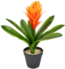 Artificial Bromelia with Orange Flower