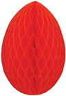 Honeycomb Paper Egg - Red 20cm