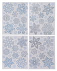 Snowflake Window Stickers - 4 Asst. 1 Supplied