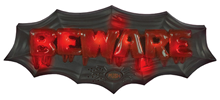 Illuminated Beware Wall Plaque