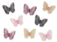 Decorative Mesh Butterflies - Pk.8