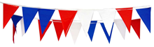 Red White and Blue Triangular Bunting