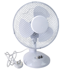 "Compact 9"" Oscillating Cooling Fan for Home & Office, 2 Speeds"