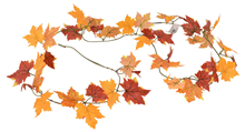 Yellow Autumn Leaf Garland - 180cm