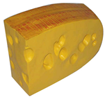 Plastic Large Emmental Cheese Slice