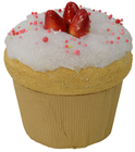 Giant Strawberry Cupcake
