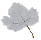 Large Frosted Leaf - Grey