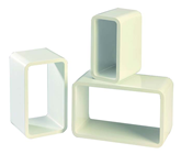 SET 3 WHITE RECTANGULAR DISPLAY ELEMENTS
