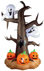 Inflatable Tree with Ghosts and Pumpkins - 2.4m